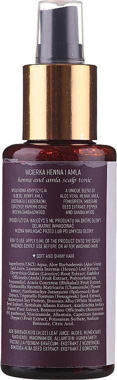 Wcierka Blask i miękkość do skóry głowy Henna i amla - Sattva Ayurveda by Agnieszka Niedziałek — фото N2