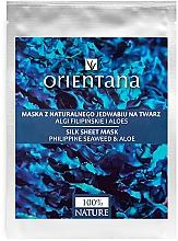 Kup Maska z naturalnego jedwabiu na twarz Algi filipińskie i aloes - Orientana