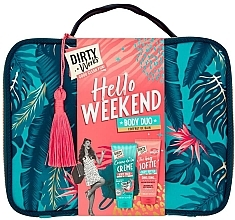 Kup Zestaw - Dirty Works Hello Weekend Pamperbag (b/wash/200ml + b/butter/200ml + bag)