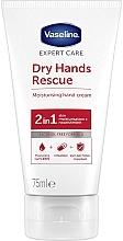 Kup Nawilżający krem antybakteryjny do rąk - Vaseline Expert Care Dry Hands Rescue 2 in 1 Moisturising Hand Cream