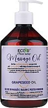Kup Olejek do masażu z olejem z pestek winogron - Eco U