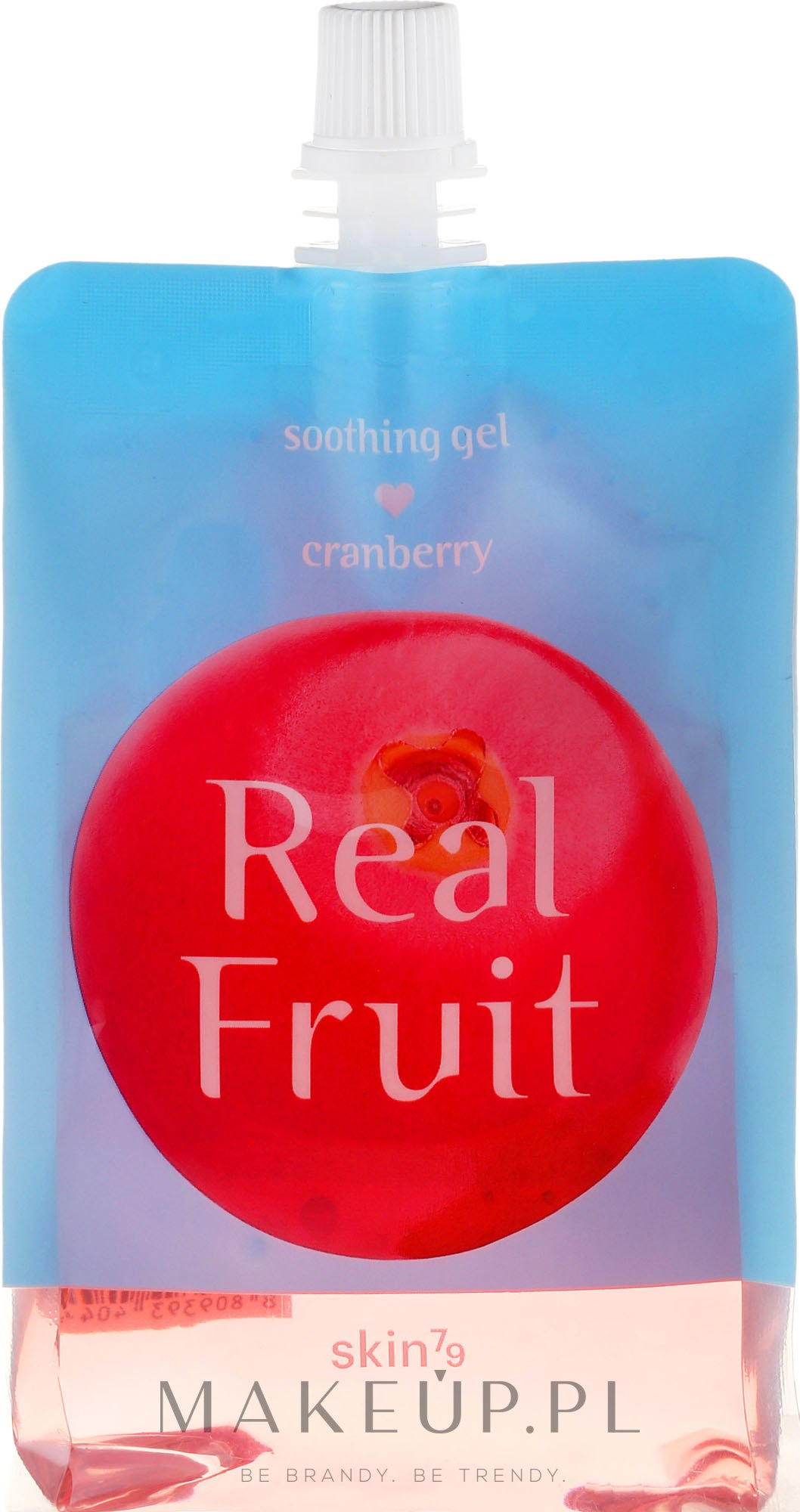 Odświeżająco-rewitalizujący żel kojący do ciała Żurawina - Skin79 Real Fruit Cranberry Soothing Gel — фото 300 ml