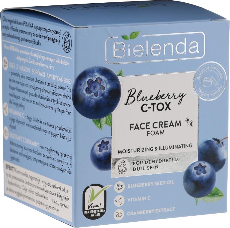 Nawilżająco-rozświetlający krem-pianka do twarzy - Bielenda Blueberry C-Tox Face Cream