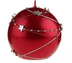 Kup PRZECENA! Świeca dekoracyjna, 10 x 10 cm, czerwona - Artman Christmas Garland *