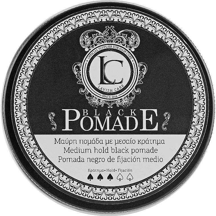 Pomada do stylizacji włosów - Lavish Care Black Pomade Medium Hold Black — фото N1