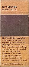 Olejek cytrynowy - Apivita Aromatherapy Organic Lemon Oil — фото N3