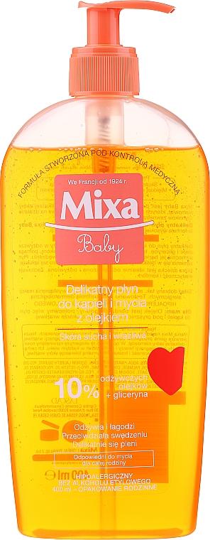 Delikatny płyn do kąpieli i mycia z olejkiem dla dzieci - Mixa Baby Foaming Oil