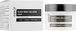 Kup Odżywczy krem przeciwstarzeniowy do twarzy ze śluzem ślimaka - Coxir Black Snail Collagen Cream Anti-Wrinkle And Nourish