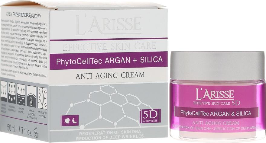 Przeciwzmarszczkowy krem z komórkami macierzystymi i krzemem 70+ - AVA Laboratorium L'Arisse Effective Skin Care 5D