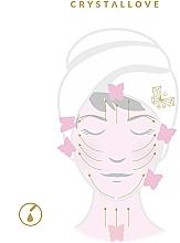Płytka do masażu twarzy Gua Sha z ametystu - Crystallove Amethyst Gua Sha — фото N3