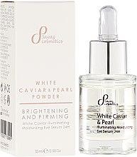 Kup Rozświetlające serum nawilżające pod oczy - Sayaz Cosmetics White Caviar & Pearl Powder Illuminating Moisturizing Eye Serum 24H