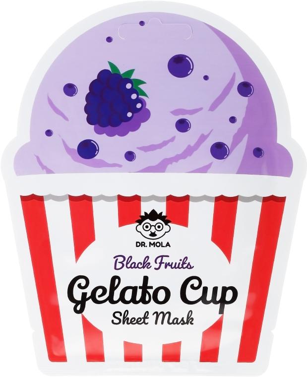 Maseczka w płachcie do twarzy - Dr. Mola Black Fruits Gelato Cup Sheet Mask — фото N1