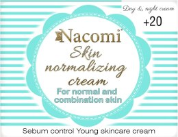 Kup Normalizujący krem do twarzy - Nacomi Normalizing Cream 20+