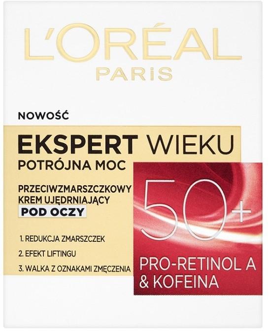 Krem pod oczy - L'Oreal Paris Age Specialist Expert Eye Cream 50+