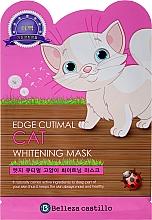 Kup Rozjaśniająca maska na tkaninie do twarzy Kotek - Belleza Castillo Edge Cutimal Cat Whitening Mask