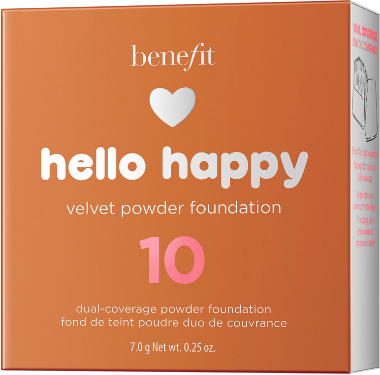 Podkład w pudrze do twarzy - Benefit Hello Happy Velvet Powder Foundation — фото N12