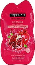 Kup Rewitalizująca maska peel-off do twarzy Granat - Freeman Feeling Beautiful Peeling Facial Mask with Pomegranate (mini)