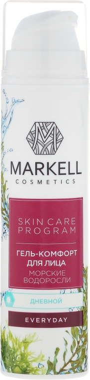 Żel-komfort do twarzy na dzień Algi morskie - Markell Cosmetics Everyday Cream Gel — фото N2
