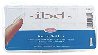 Tipsy do paznokci, matowe - IBD Natural Nail Tips — фото N1