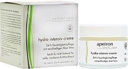 Kup Intensywnie nawilżający krem z aloesem - Apeiron Hydro Intensiv Cream With Aloe Vera 24h