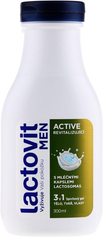 Żel pod prysznic 3 w 1 dla mężczyzn - Lactovit Men Active 3v1 Shower Gel — фото N1