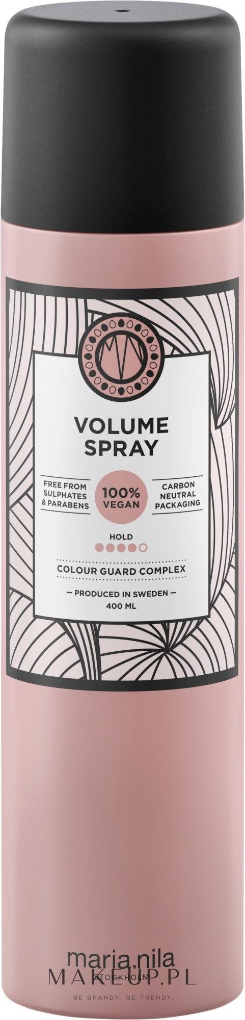 Lakier dodający włosom objętości - Maria Nila Volume Spray — фото 400 ml
