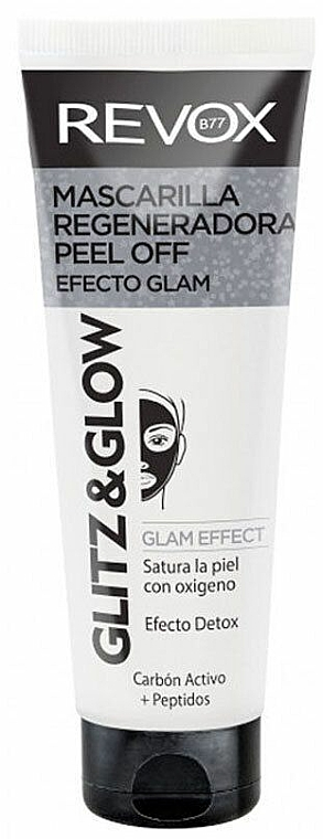 Regenerująca czarna maska peel-off do twarzy - Revox Glitz & Glow Regenerating Peel Off Mask Black  — фото N2