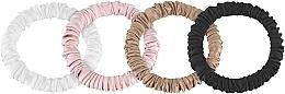 Kup Zestaw cienkich gumek-scrunchie do włosów z naturalnego jedwabiu Skinny - Makeup