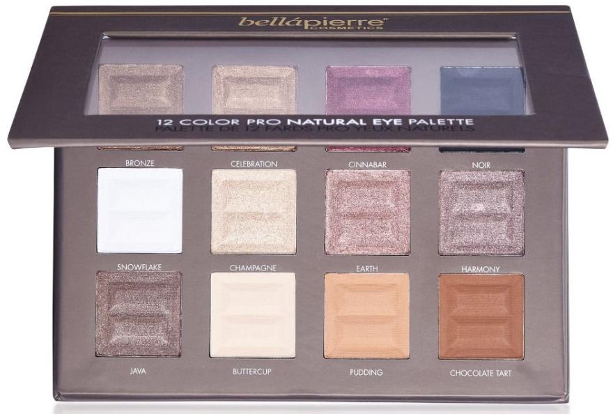 Paleta cieni do powiek - Bellapierre 12 Colour Pro Natural Eye Palette — фото N1