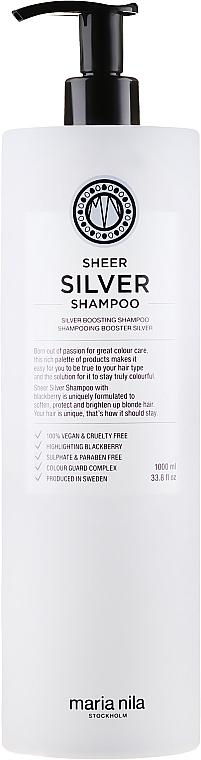 Srebrny szampon do włosów blond neutralizujący żółte refleksy - Maria Nila Sheer Silver Shampoo — фото N3