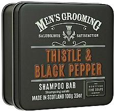 Kup Szampon w kostce dla mężczyzn Oset i czarny pieprz - Scottish Fine Soaps Mens Grooming Thistle & Black Pepper Shampoo Bar
