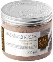 Kup Myjąca maska na bazie glinek Grejpfrut - Organique Mask&Wash Cream Grapefruit