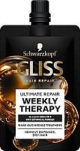 Kup Intensywna kuracja do mocno zniszczonych i przesuszonych włosów - Schwarzkopf Gliss Kur Hair Repair Ultimate Repair Weekly Therapy