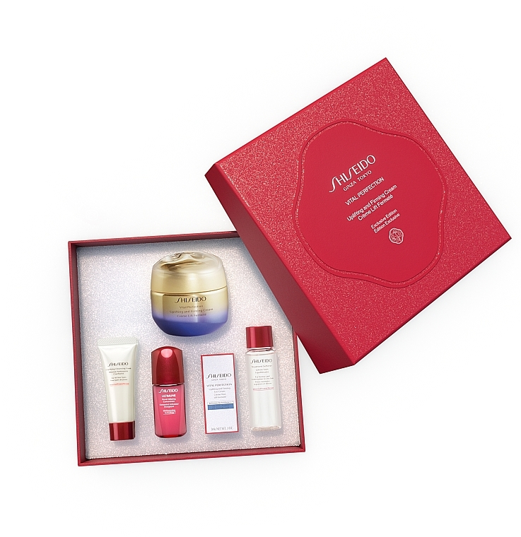 Zestaw - Shiseido Vital Perfection (conc/10ml + foam/15ml + softner/30ml + conc/3ml + cr/50ml) — фото N1