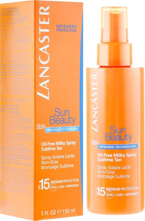 Bezolejowe mleczko w sprayu do ciała SPF 15 - Lancaster Sun Beauty Oil-Free Milky Spray