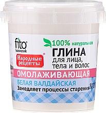 Kup Wałdajska odmładzająca glinka biała do twarzy, ciała i włosów - FitoKosmetik Przepisy ludowe