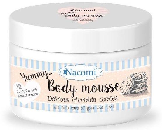 Mus do ciała Czekoladowe ciasteczka - Nacomi Delicious Chocolate Cookies Body Mousse