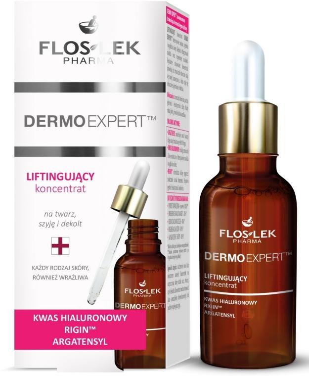 Liftingujący koncentrat na twarz, szyję i dekolt - Floslek Dermo Expert