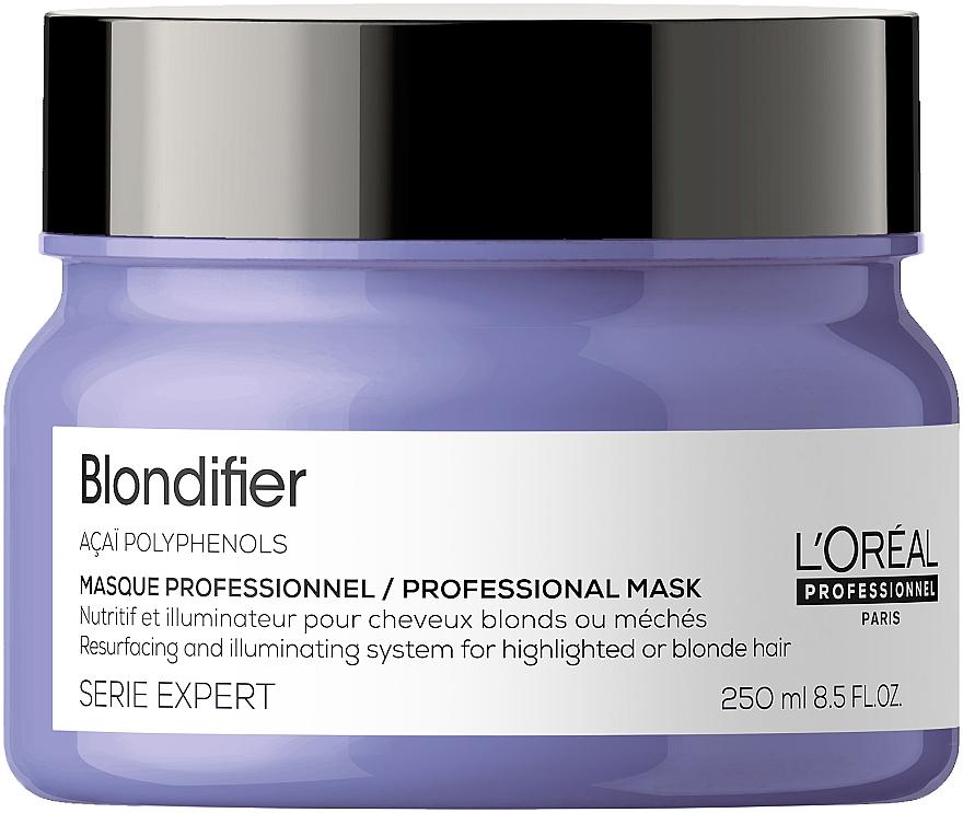 Regenerująca maska chroniąca blask włosów - L'Oreal Professionnel Serie Expert Blondifier Masque