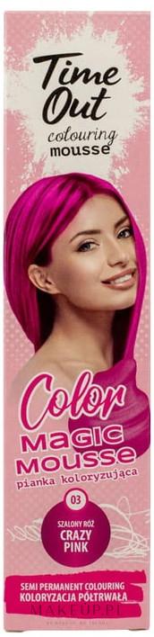 PRZECENA! Pianka koloryzująca do włosów - Time Out Color Magic Mousse * — фото 03 - Crazy Pink