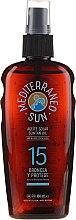 Olejek do opalania - Mediterraneo Sun Coconut Suntan Oil Dark Tanning SPF15 — фото N1