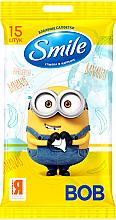 Kup Chusteczki nawilżane, Minionki, 15 szt. - Smile Ukraine Baby