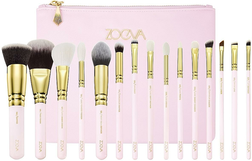 Zestaw pędzli do makijażu w kosmetyczce - Zoeva Screen Queen Complete Set (15 brushes + clutch) — фото N1