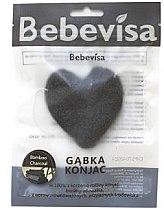 Kup Gąbka konjac do mycia twarzy, serce Bambus i węgiel - Bebevisa Konjac Sponge