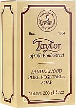 Mydło w kostce dla mężczyzn Drzewo sandałowe - Taylor of Old Bond Street Sandalwood Soap — фото N1