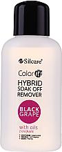 Kup PRZECENA! Płyn do zdejmowania żelu z paznokci - Silcare Soak Off Remover Black Grape *