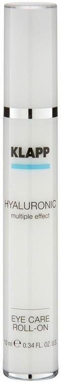 Hialuronowy żel do powiek - Klapp Hyaluronic Eye Roll-On — фото N2