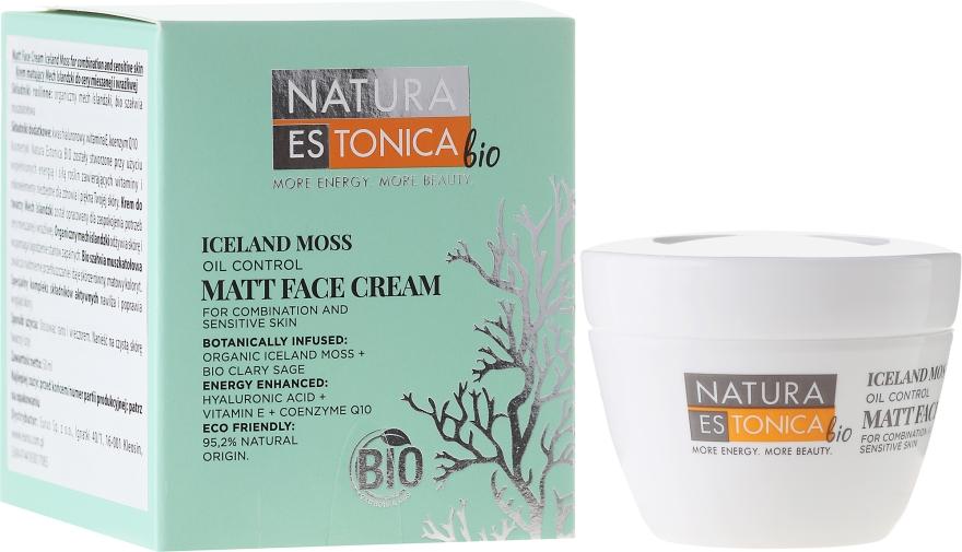 Matujący krem do twarzy - Natura Estonica Bio Iceland Moss Face Cream