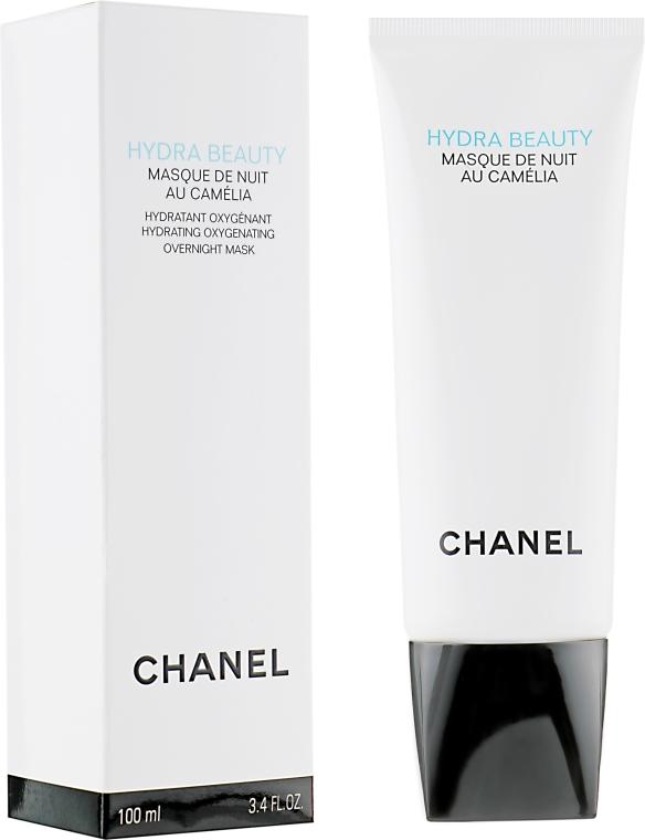 Dotleniająco-nawilżająca maska do twarzy na noc - Chanel Hydra Beauty Masque de Nuit au Camélia — фото N1