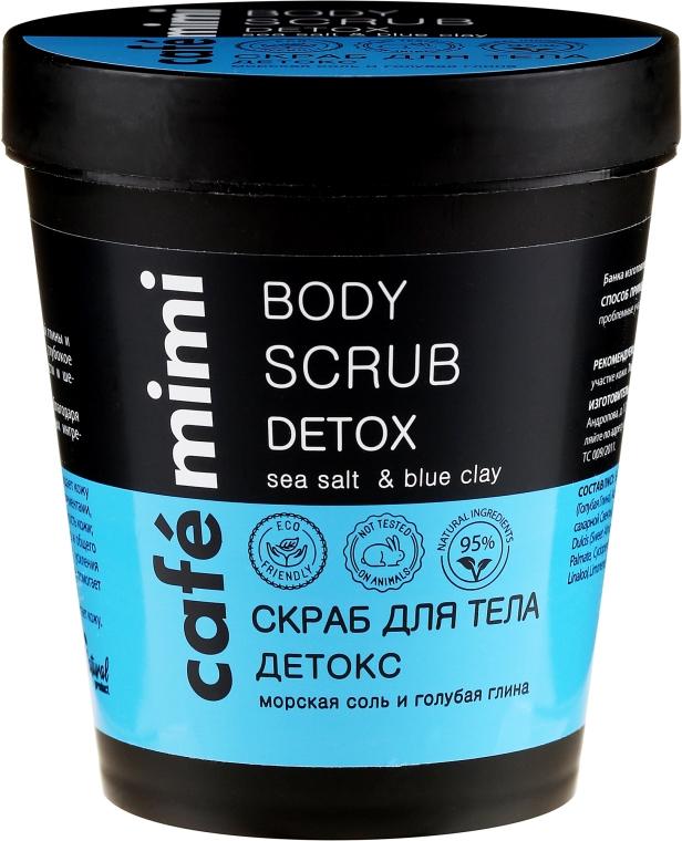 Peeling do ciała Sól morska i niebieska glinka - Cafe Mimi Body Scrub Detox